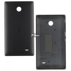 Задняя панель корпуса для Nokia X Dual Sim, черная, с боковыми кнопками