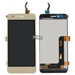 Дисплей для Huawei Y3 II, золотистый, с сенсорным экраном (дисплейный модуль),(версия 3G), LUA-U03/U23/L03/L13/L23