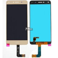 Дисплей для Huawei Y5 II, золотистый, с сенсорным экраном (дисплейный модуль)
