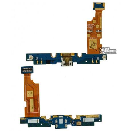 Шлейф для LG E975 Optimus G, коннектора зарядки, с компонентами