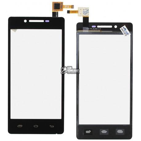 Тачскрин для Prestigio MultiPhone 3451, MultiPhone 5450 Duo, MultiPhone 5451 Duo, MultiPhone 5457 Duo, черный, #BM:2.85.0452060-