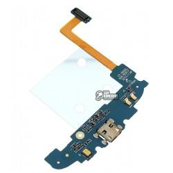 Шлейф для Samsung I8262 Galaxy Core, коннектора зарядки, с микрофоном, с компонентами