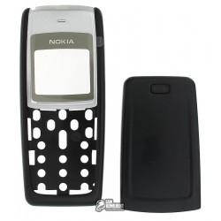 Корпус для Nokia 1110, 1110i, 1112, high-copy, черный, передняя и задняя панель
