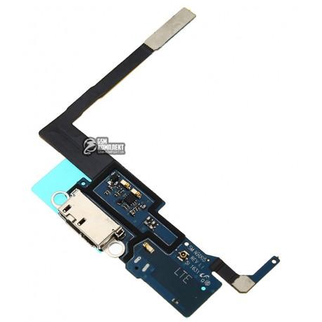 Шлейф для Samsung N9005 Note 3, N9006 Note 3, коннектора зарядки, с микрофоном, с компонентами, rev 1.1