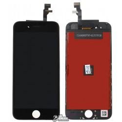 Дисплей iPhone 6, черный, с рамкой, с сенсорным экраном (дисплейный модуль),copy