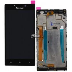 Дисплей для Lenovo P70, черный, с сенсорным экраном (дисплейный модуль),с передней панелью
