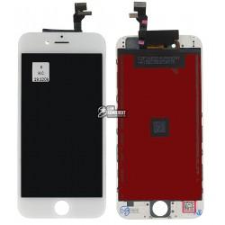 Дисплей iPhone 6, белый, с сенсорным экраном (дисплейный модуль),с рамкой, original (PRC)