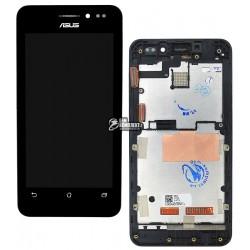 Дисплей для Asus ZenFone 4 (A450CG), черный, с рамкой, с сенсорным экраном (дисплейный модуль)