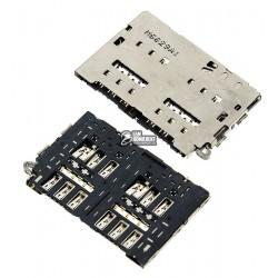 Коннектор SIM-карты для Samsung G920FD Galaxy S6 Duos