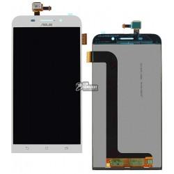 Дисплей для Asus Zenfone Max (ZC550KL), белый, с сенсорным экраном (дисплейный модуль)