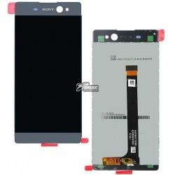 Дисплей для Sony F3212 Xperia XA Ultra Dual, F3215 Xperia XA Ultra Dual, F3216 Xperia XA Ultra Dual, черный, с сенсорным экраном