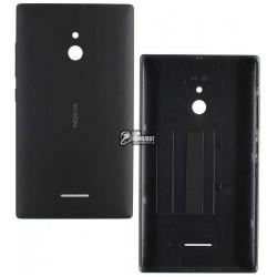 Задняя панель корпуса для Nokia XL Dual Sim, черная, с боковыми кнопками