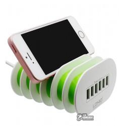 Сетевое зарядное устройство Ldnio A6702 EU длина кабеля:1.5m 6 USB, 7A