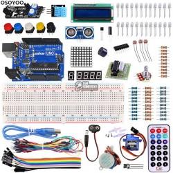 Набор ARDUINO Basic Learning Kit расширенный с arduino UNO, макетной платой, дисплеями, двигателями и датчиками