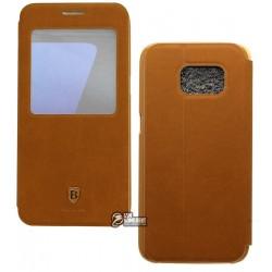 Чехол Baseus Terse Leather для Samsung Galaxy S7, Highland brown