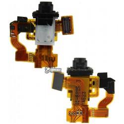 Шлейф для Sony D5803 Xperia Z3 Compact Mini, D5833 Xperia Z3 Compact Mini, коннектора наушников, c датчиком приближения, с компо