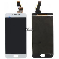 Дисплей для Meizu M3, белый, с сенсорным экраном (дисплейный модуль)