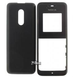 Корпус для Nokia 105, high-copy, черный, передняя и задняя панель