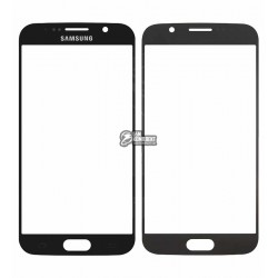 Стекло корпуса для Samsung G920F Galaxy S6, синее, 2.5D
