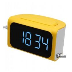 Часы Remax RM-C05 с USB, желтые
