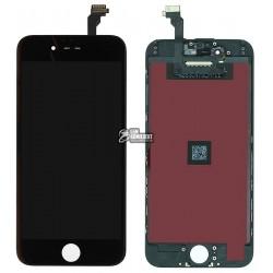 Дисплей iPhone 6, черный, с сенсорным экраном (дисплейный модуль),с рамкой, original (PRC)