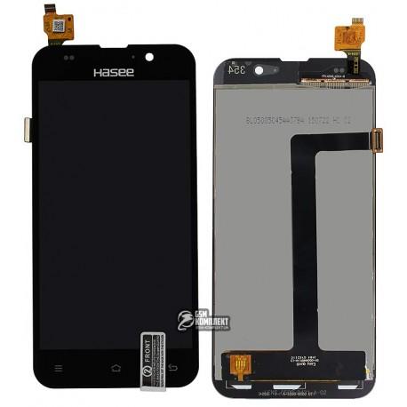 Дисплей для Zopo C2, C3, ZP980 Scorpio, чорний, з сенсорним екраном (дисплейний модуль),#LT050ANRP14A130607-02/BL-050ALP120511