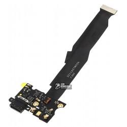 Шлейф для Xiaomi Mi5s, коннектора зарядки, с компонентами