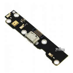 Шлейф для Meizu MX3, коннектора зарядки, с компонентами, плата зарядки