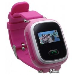 Детские часы Smart Baby Watch TW2 0.96' OLED с GPS трекером, розовые
