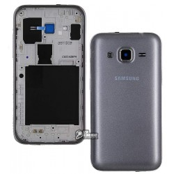 Корпус для Samsung G360H Galaxy Core Prime, серебристый, dual SIM