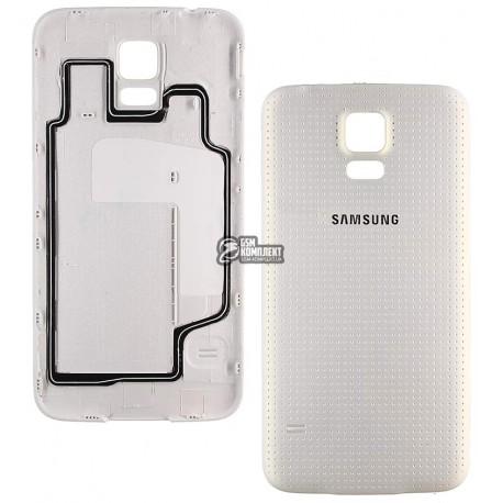 Задняя крышка батареи для Samsung G900H Galaxy S5, белая