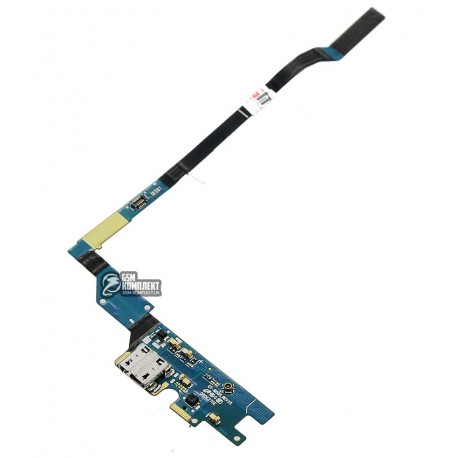 Шлейф для Samsung I9505 Galaxy S4, мікрофону, конектора зарядки, з компонентами