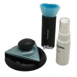 Чистящий набор для оргтехники ColorWay Premium CW-9026 (спрей, трехугольный очиститель, щетка)