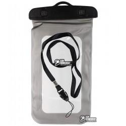 """Подводный чехол для телефона 5,5"""", аквабокс, черный / белый"""
