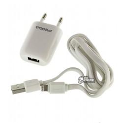 Сетевое зарядное устройство Remax Proda 1A RP-U11, с Lightning кабелем для iPhone 5/6/7