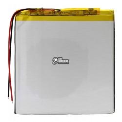 Аккумулятор универсальный (акб), для телефона, планшета, GPS, 90 мм, 90 мм, 3,4 мм, Li-ion, 3,7 В, 2800 мАч