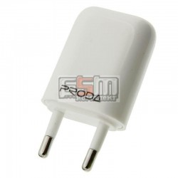 Сетевое зарядное устройство Remax Proda 1A RP-U11, белое