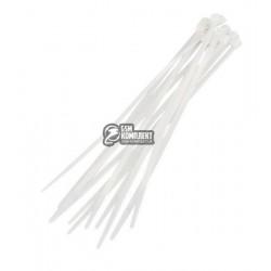 Стяжка кабельная 200х2,5мм белая 100шт