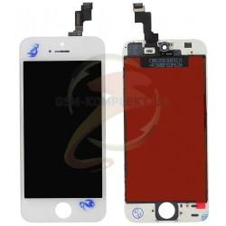 Дисплей iPhone 5S, iPhone SE, белый, с сенсорным экраном (дисплейный модуль),с рамкой, original (PRC)