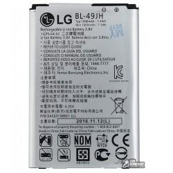 Аккумулятор (акб) BL-49JH для LG K3 K100DS LTE, K4 K120E, K4 K121, Li-ion, 3,8 В, 1940 мАч