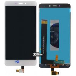 Дисплей для Xiaomi Redmi Note 4, белый, с сенсорным экраном (дисплейный модуль)
