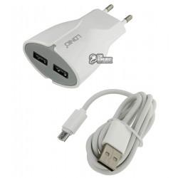 Сетевое зарядное устройство Ldnio A2271 c Micro USB 5V/2.1A 2USB