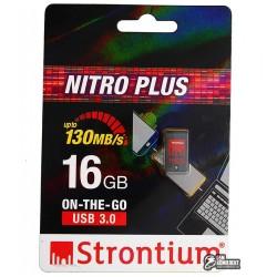Флешка 16Gb, Strontium Nitro Plus, USB3.0 + OTG MicroUsb