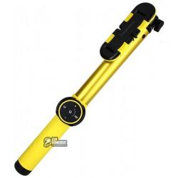 Селфи-монопод Momax Hero Bluetooth KMS8L 150cm, желтый