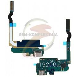 Шлейф для Samsung I9200 Galaxy Mega 6.3, I9205 Galaxy Mega 6.3, конектора зарядки, з мікрофоном, з компонентами