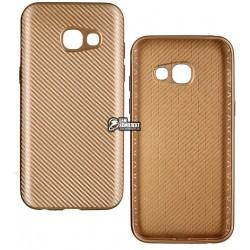 Чехол защитный для Samsung A5 (2017) A520, силиконовый, карбон
