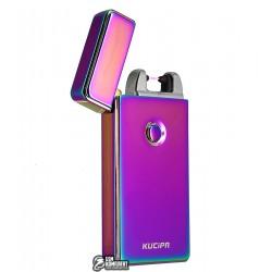 Зажигалка электроимпульсная Kupica KC04, радужная