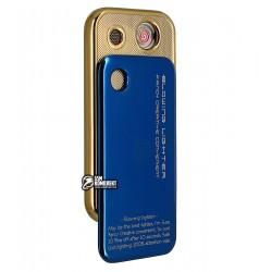Зажигалка электроимпульсная Kupica KC03, синий + золото