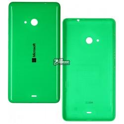 Задняя панель корпуса для Microsoft (Nokia) 535 Lumia Dual SIM, зеленая, с боковыми кнопками