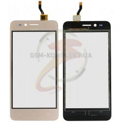 Тачскрин для Huawei Y3 II, (3G версия), золотистый, LUA-U03/U23/L03/L13/L23